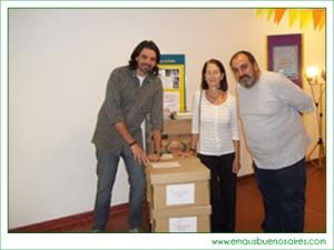 Representantes de la CBAS con el Coordinador del Centro Cultural Barrio Copello